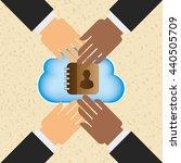 cloud computing design  | Shutterstock .eps vector #440505709