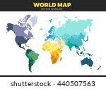color world map vector... | Shutterstock .eps vector #440507563