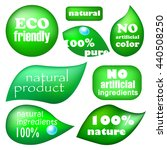 ecology friendly and natural... | Shutterstock .eps vector #440508250