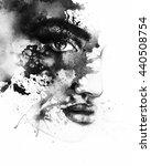 abstract  woman portrait.... | Shutterstock . vector #440508754