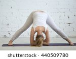 pregnancy yoga and fitness.... | Shutterstock . vector #440509780