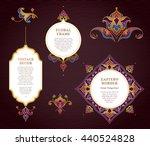 vector set of bright golden... | Shutterstock .eps vector #440524828