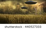 Aliens Invade 3D Render - stock photo