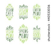 restaurant labels. suitable for ... | Shutterstock .eps vector #440533036