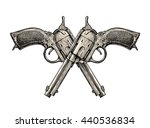 Crossed Pistols. Vintage Gun ...