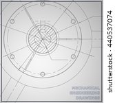 mechanical engineering drawings.... | Shutterstock .eps vector #440537074