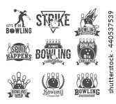 bowling vector logotypes ... | Shutterstock .eps vector #440537539