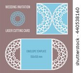 diy laser cutting vector... | Shutterstock .eps vector #440538160