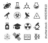 science vector icons. science... | Shutterstock .eps vector #440539810