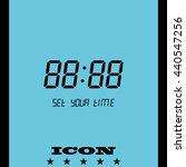digital clock   number set icon. | Shutterstock .eps vector #440547256