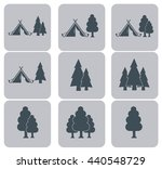set of stylized icon of tourist ... | Shutterstock .eps vector #440548729