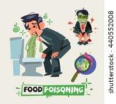 businessman get diarrhea in... | Shutterstock .eps vector #440552008