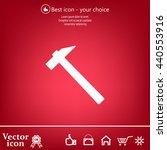 hammer icon | Shutterstock .eps vector #440553916