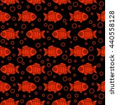 red fish seamless pattern | Shutterstock .eps vector #440558128