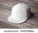 white blank snapback on the... | Shutterstock . vector #440558860
