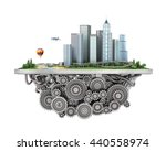 concept of city. city on the... | Shutterstock . vector #440558974