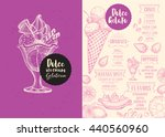 ice cream menu place mat food... | Shutterstock .eps vector #440560960