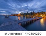 Boardwalk At Sunset In...