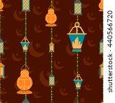 ramdan kareem seamless pattern... | Shutterstock .eps vector #440566720