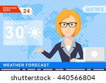 anchorman on tv broadcast news. ... | Shutterstock .eps vector #440566804