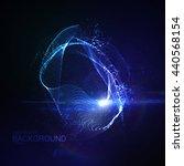 3d illuminated abstract digital ... | Shutterstock .eps vector #440568154
