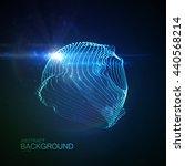 3d illuminated abstract digital ... | Shutterstock .eps vector #440568214
