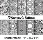 set of 10 abstract patterns.... | Shutterstock .eps vector #440569144