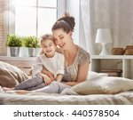 happy loving family. mother and ... | Shutterstock . vector #440578504
