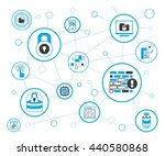 data security  network security ... | Shutterstock .eps vector #440580868