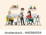 business meeting. teamwork... | Shutterstock .eps vector #440584354