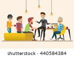 business meeting. teamwork... | Shutterstock .eps vector #440584384