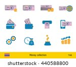 set of thai baht. banknote and... | Shutterstock .eps vector #440588800