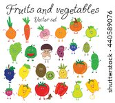 fruits and vegetables. vector... | Shutterstock .eps vector #440589076
