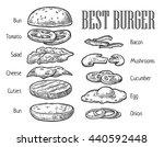 burger ingredients. vector... | Shutterstock .eps vector #440592448