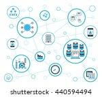 data analytics concept ... | Shutterstock .eps vector #440594494