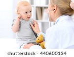 pediatrician is taking care of... | Shutterstock . vector #440600134