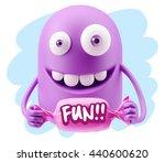3d illustration laughing... | Shutterstock . vector #440600620
