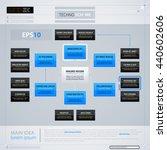 modern organization chart... | Shutterstock .eps vector #440602606