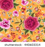 manton shawl  spanish floral... | Shutterstock .eps vector #440603314