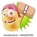 3d rendering smile character... | Shutterstock . vector #440605930