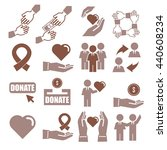 assist  help  kindness icon set   Shutterstock .eps vector #440608234