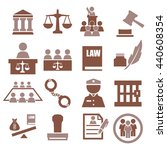 attorney  court  law icon set | Shutterstock .eps vector #440608354