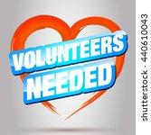 volunteer. | Shutterstock .eps vector #440610043