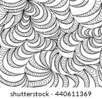 abstract seamless wave... | Shutterstock . vector #440611369