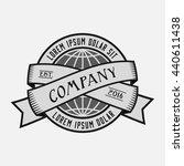 globe logo. vector and... | Shutterstock .eps vector #440611438