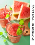 watermelon lime smoothie in... | Shutterstock . vector #440612728
