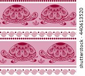 seamless pattern with decorated ... | Shutterstock .eps vector #440613520