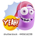 3d illustration laughing... | Shutterstock . vector #440616238