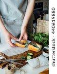sandwich cooking | Shutterstock . vector #440619880