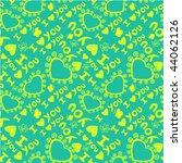 'i love you' seamless pattern... | Shutterstock .eps vector #44062126